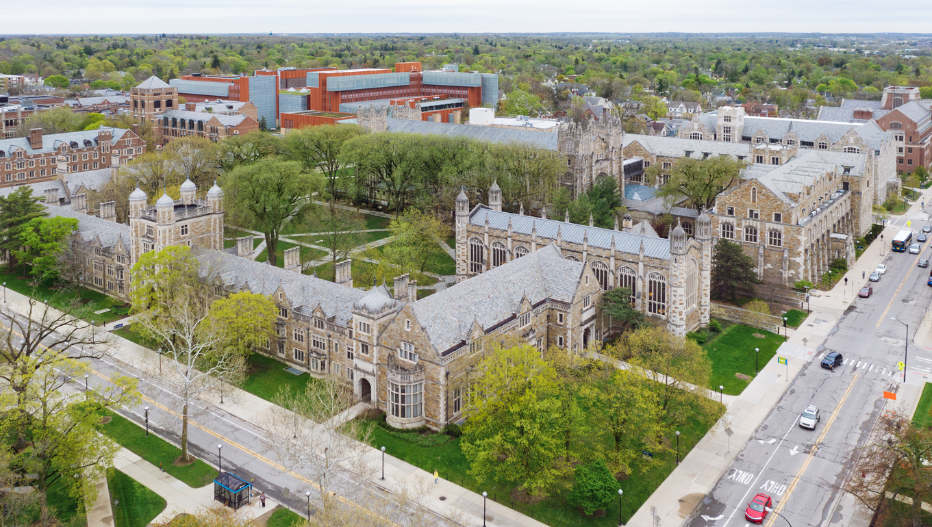 University of Michigan Law School, public institution.